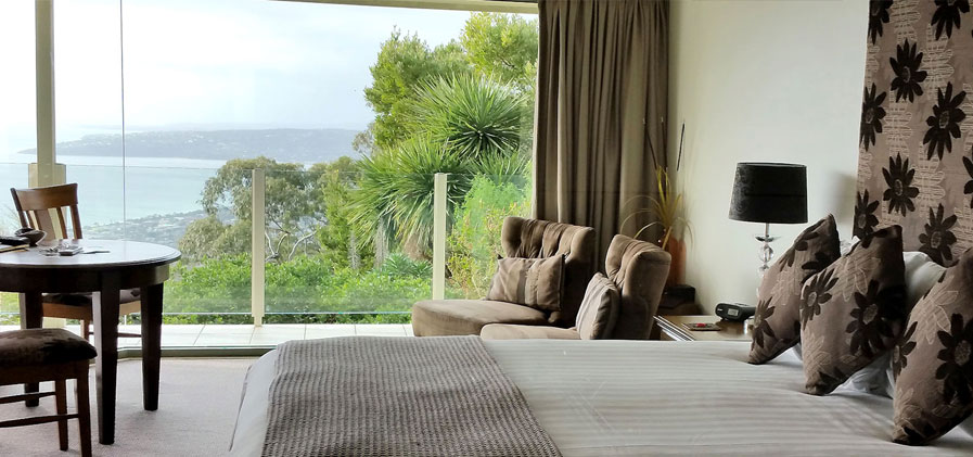 Bedroom View at 'Arthurs Views' Mornington Peninsula Luxury Accommodation