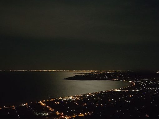 Night time view from Arthurs Views Luxury Accommodation on the Mornington Peninsula